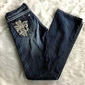 Miss Me Jeans 25 Embellished Rhinestone Boot Cut